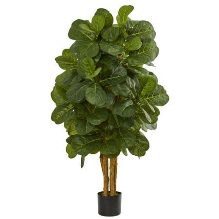 - Nearly Natural artificial indoor 4' Fiddle Leaf Fig Artificial Tree
