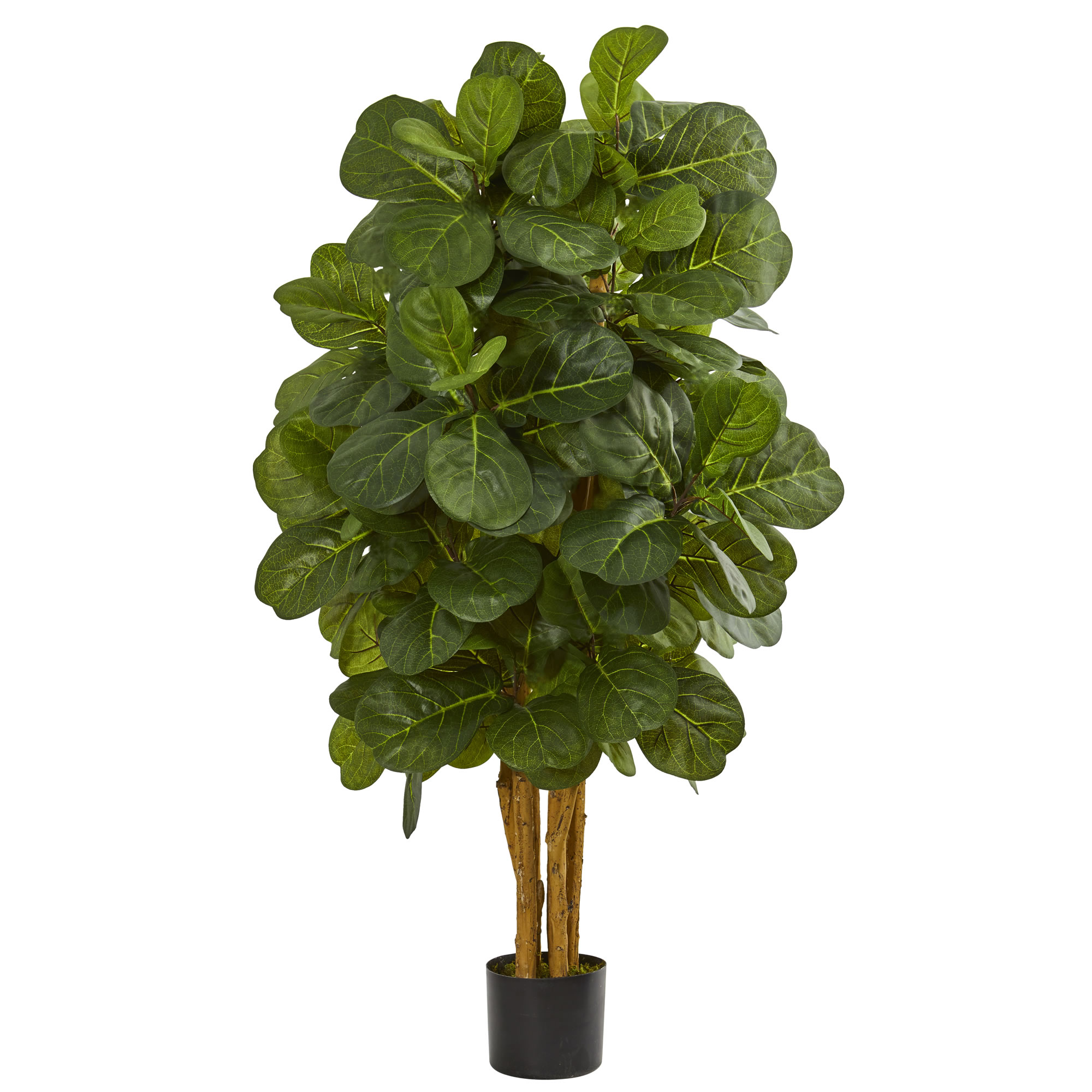 Nearly Natural artificial indoor 4' Fiddle Leaf Fig Artificial Tree