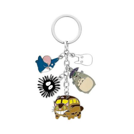 Totoro Keychain Key Ring Anime Manga TV Show Series Auto/Boat House Keys