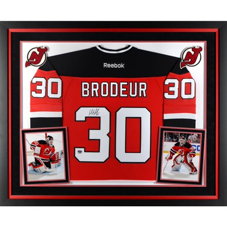 Martin Brodeur New Jersey Devils Deluxe Framed Autographed Red Reebok Premier Jersey Fanatics Authentic Certified by