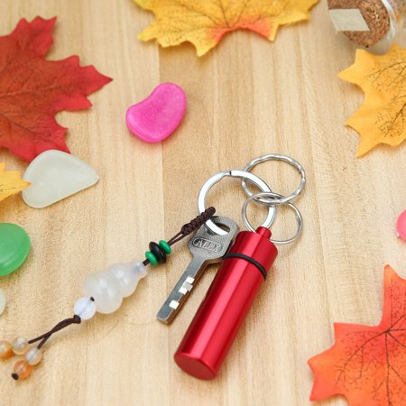 HC-TOP Waterproof Pill Shaped Aluminum Alloy Pill Drug Bottle Holder Container Keychain - image 2 of 6