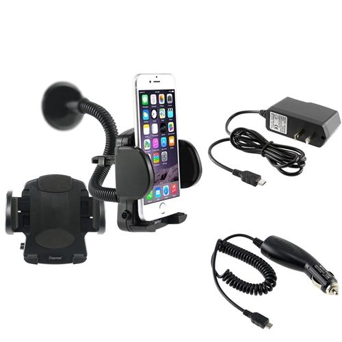 Insten Car Mount Holder+2 Charger Car AC for Samsung Galaxy S III S3 i9300 i9500 S4 IV