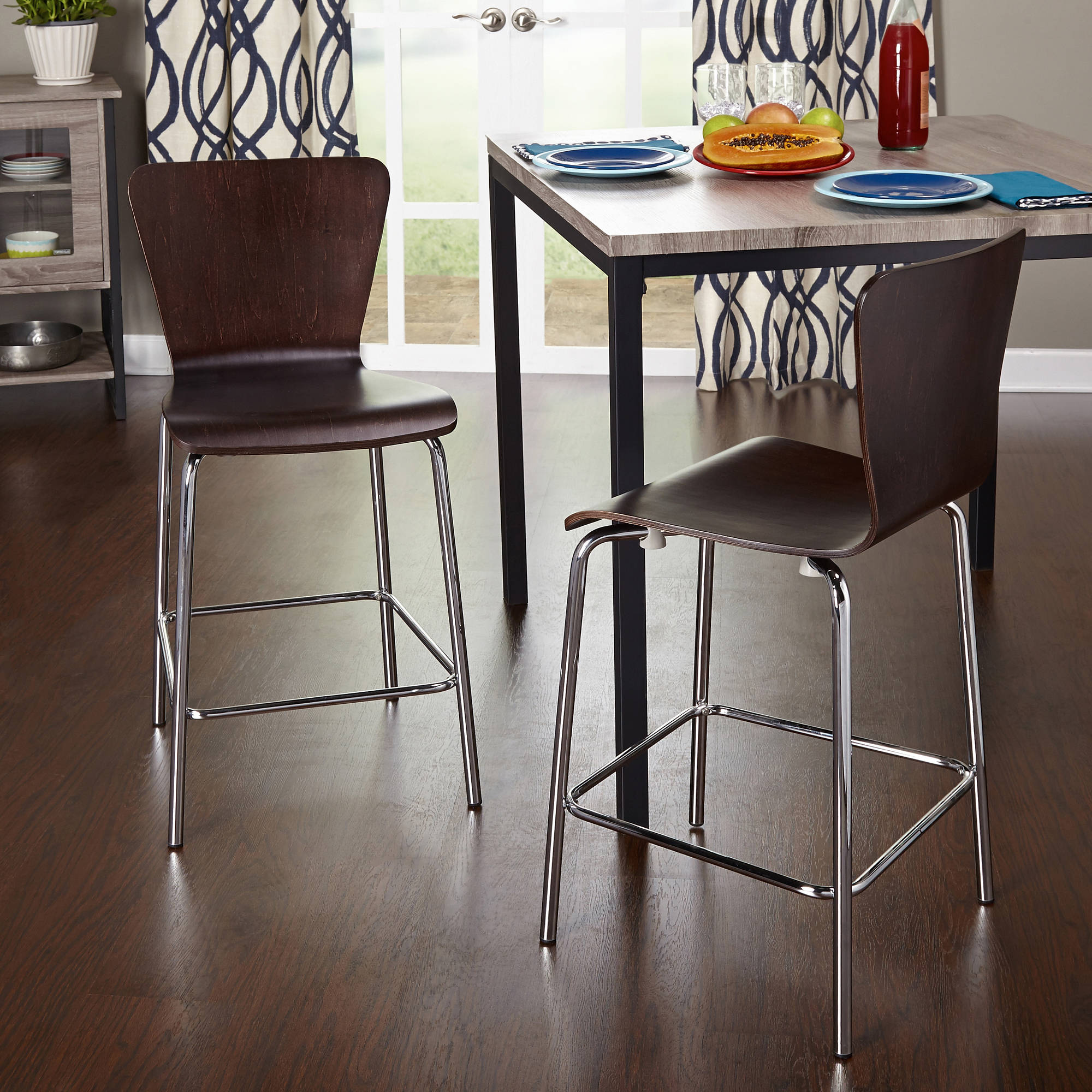 "Pisa Counter Height Stool, 24"", Set of 2, Multiple Colors"