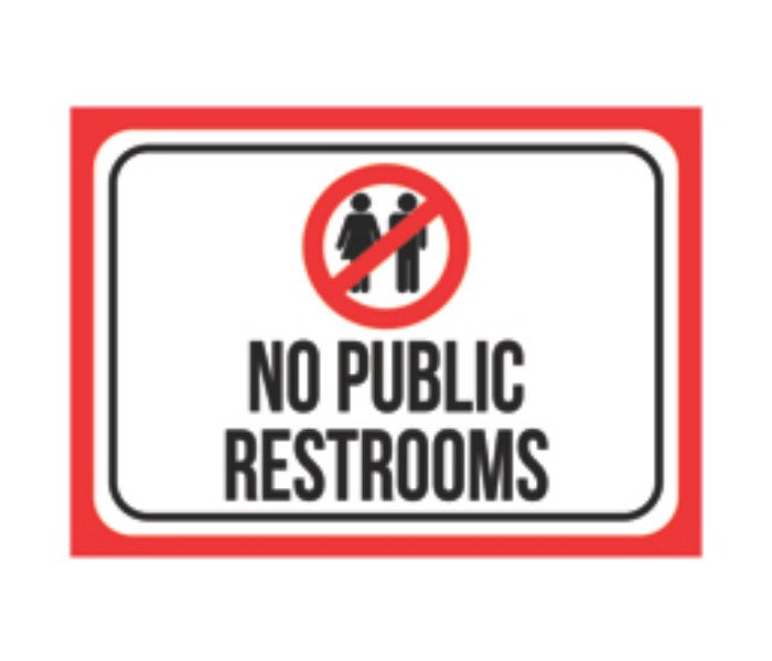 picture about No Public Restroom Sign Printable named No Community Toilet Indication - Toilet Style and design Suggestions