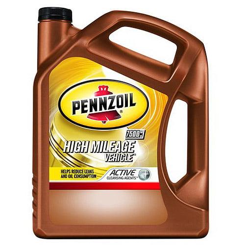 Pennzoil 5W-20  High-Mileage Motor Oil, 5 qt.