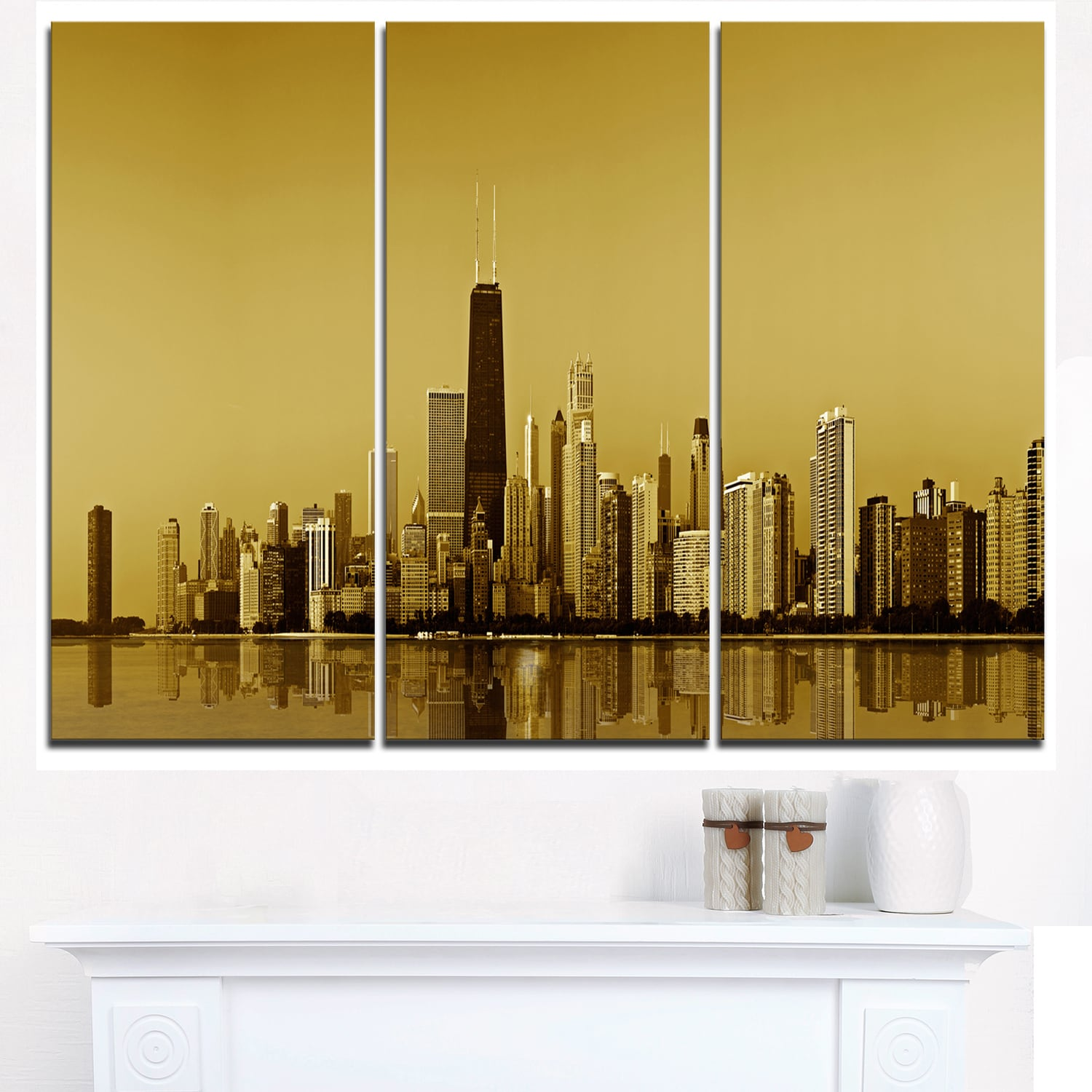 DESIGN ART Chicago Gold Coast with Skyscrapers - Cityscape Glossy ...