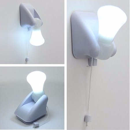 Led Wall Lamp Handy Bulb Stick Up Pull Chain Battery
