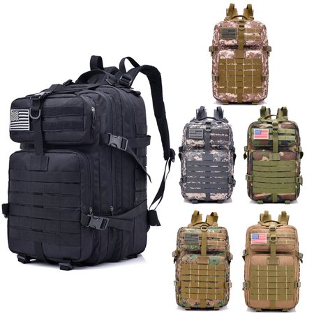 Zimtown 40L Military Tactical Backpack, Army Assault Molle Waterproof Bag, for Camping Hiking Climbing Trekking Exploring Outdoor