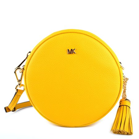 cd92d8d33943 Michael Kors Medium Circle Canteen Sunflower Leather Crossbody - Walmart.com