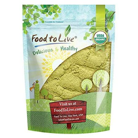 Organic Moringa Leaf Powder, 1 Pound - Non-GMO, Kosher, Raw,  Vegan, Bulk, Ground Moringa Oleifera Leaf, Sun-Dried, Great for Drinks, Teas and Smoothies - by Food to