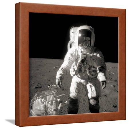 Astronaut Alan Bean on the Moon Framed Print Wall Art ()