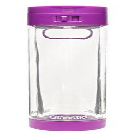 cb51c84481 Glasstic Shatterproof Glass Water Bottle - 16oz - Flip Cap Sports Water  Bottle - Purple - Walmart.com