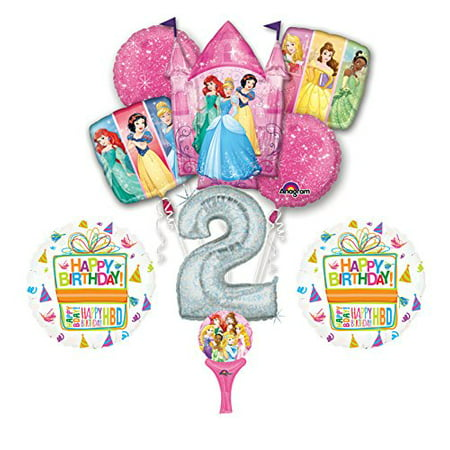 Princess Party Birthday (New! 9pc Disney Princess 2nd BIRTHDAY PARTY Balloons Decorations)