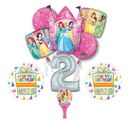 Disney Princess Birthday Party Decorations (New! 9pc Disney Princess 2nd BIRTHDAY PARTY Balloons Decorations)