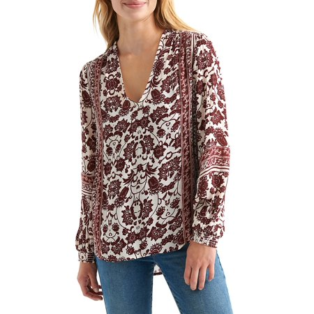 Floral-Print Long-Sleeve Top (Lucky Brand Floral Print Top Apparel)