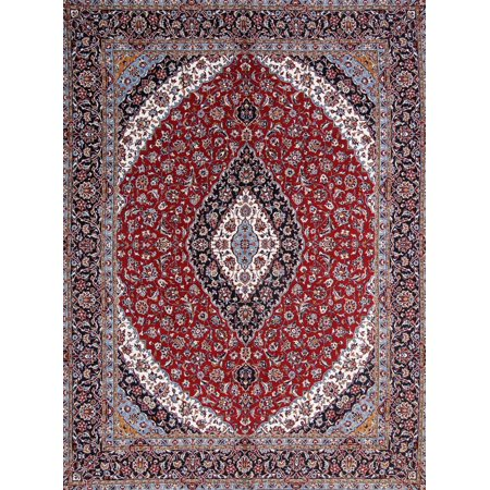 Rugselect Red Medallion Machine Made 10x12 Wool Oriental