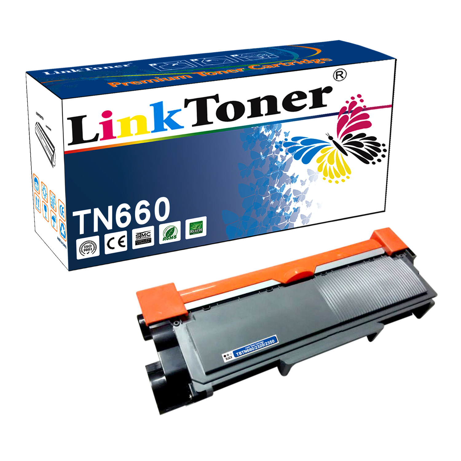 LinkToner Compatible Toner Cartridge Replacement for Brother TN660 BK Laser Printer DCP-L2520D,HL-L2305W, HL-L2315DW