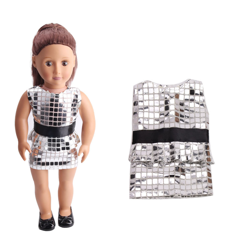 Cute Sequins Pretty Summer Dress Fits Outfit For 18 Inch American Girl Doll