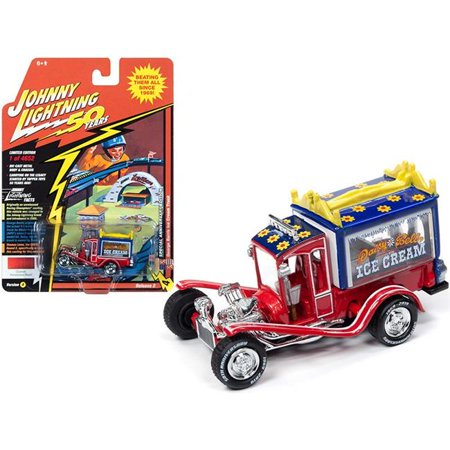 Johnny Lightning JLCG020-JLSP075A George Barris Ice Cream Truck Daisy Bell Custom Persimmon Red Pearl Limited Edition to 4