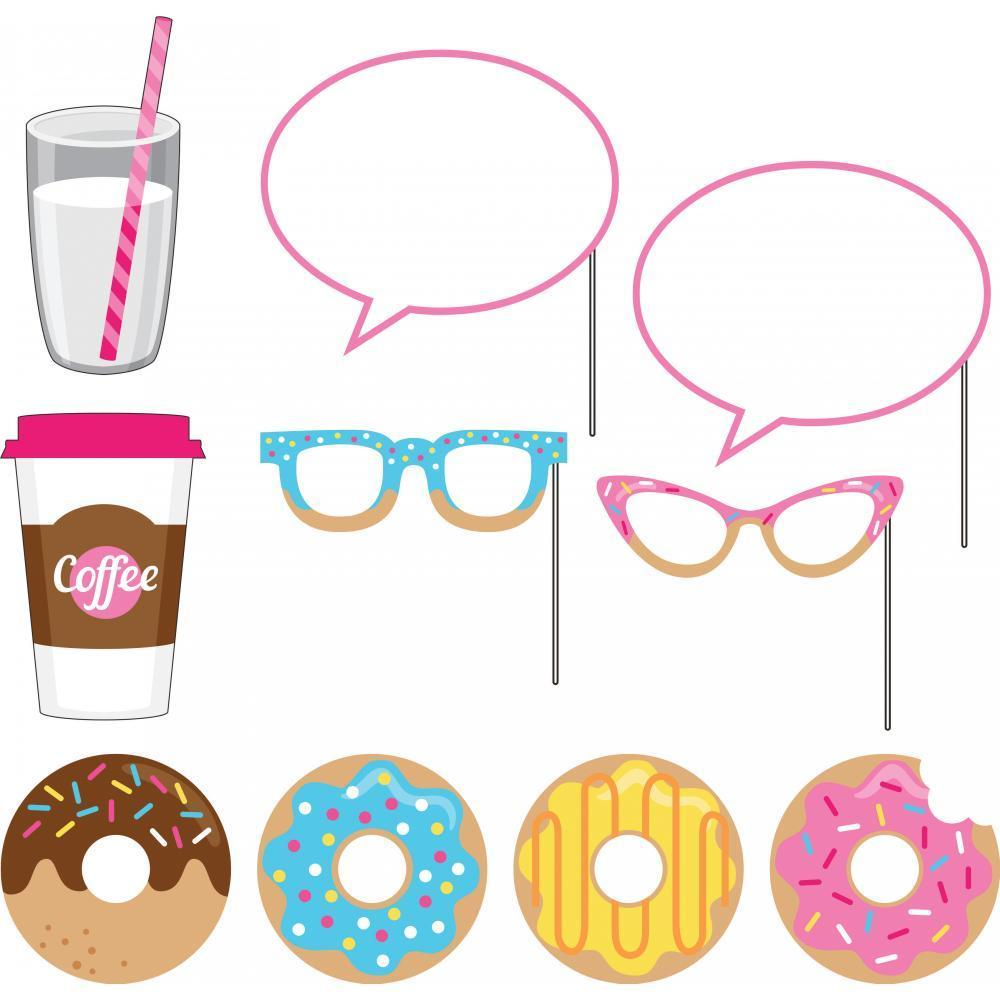 Creative Converting Donut Time Photo Booth Props, 10 ct