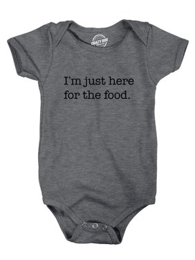 Romper Im Just Here For The Food Funny Baby Clothes Cute Top for Newborn
