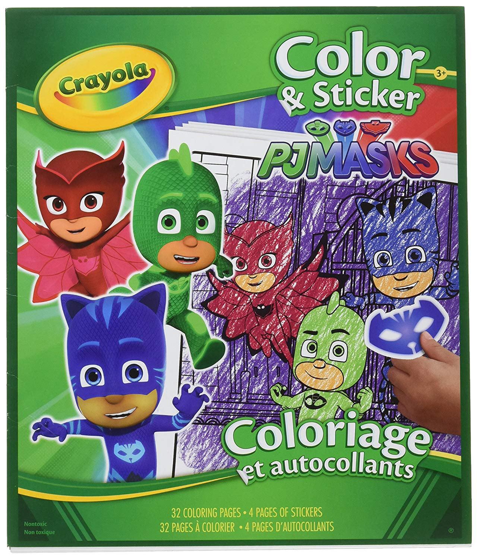Crayola Pj Masks Color And Sticker Book - Walmart.com - Walmart.com