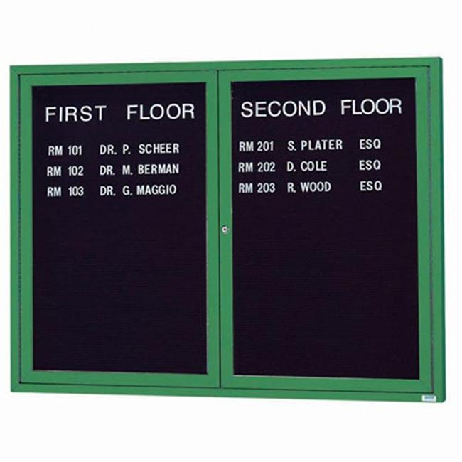 Aarco Products OADC4860G 2-Door Outdoor Enclosed Directory Cabinet - Green