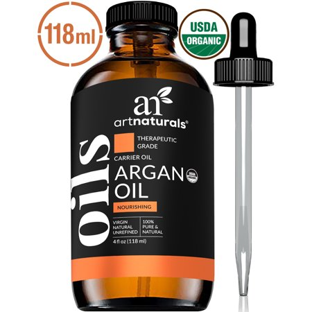 Argan Oil (4oz) - 100% Organic Cold Pressed Moroccan Carrier Oil for Skin &