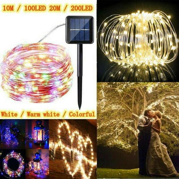 100 LED Solar Power Fairy Lights String Lamps Party Xmas Decor Garden Outdoor