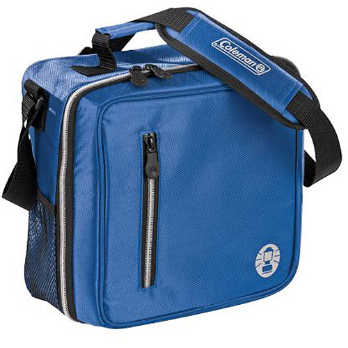 Coleman Messenger Bag Soft Cooler, Blue