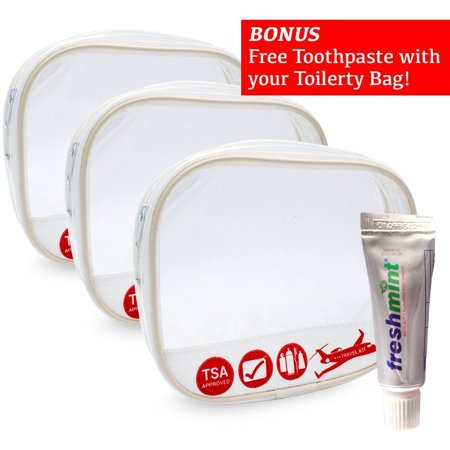 Travel Toiletry Cosmetic Pouch Organizer Women & men Bag TSA Approved Case