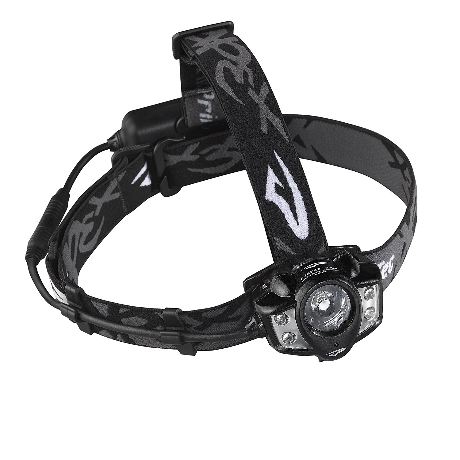 Princeton Tec Apex Rechargeable Headlamp, Black