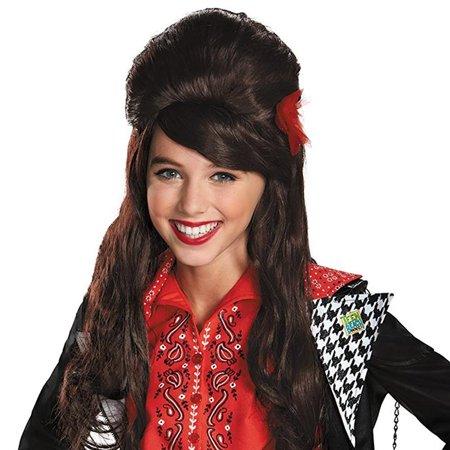 Disney Teen Beach Movie Mckenzie Child Wig Brunette Long Hair Kids Costume Disguise