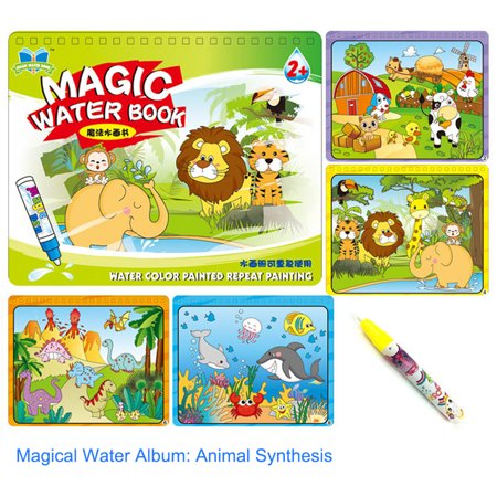 Children Kid Educational Toys Magic Water Drawing Book Album Magic Graffiti Baby Painting Kindergarten Scene Facsimile Coloring Book - Easy Halloween Craft For Kindergarten