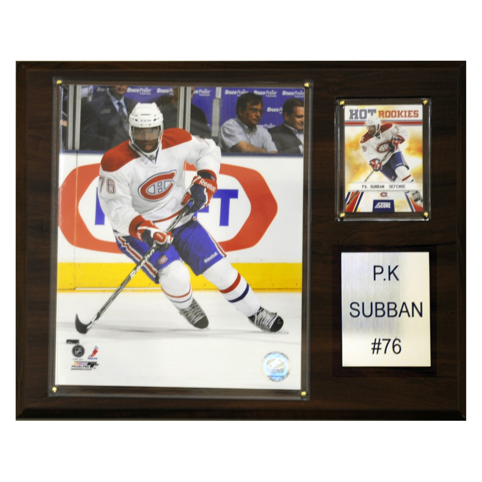 C&I Collectables NHL 12x15 P. K. Subban Montreal Canadiens Player Plaque