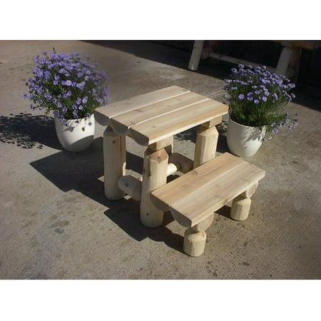 Furniture Barn USA™ White Cedar Log Step Stool ()