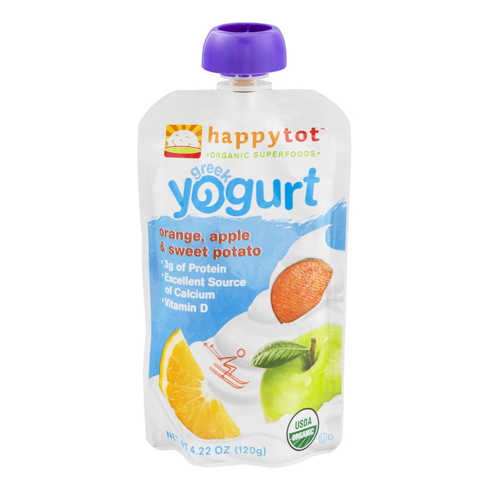 Happy Tot Organic Superfoods Greek Yogurt Orange, Apple &...