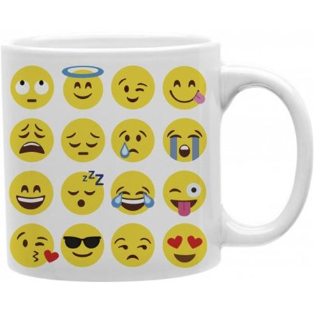 Imaginarium Goods CMG11-IGC-EMOJI Emoji Collage 11 oz tasse de caf- en c-ramique - image 1 de 1