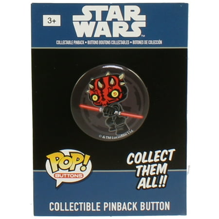All Star Sports Collectibles - Funko Collectible Pinback Buttons - Classic Star Wars - DARTH MAUL