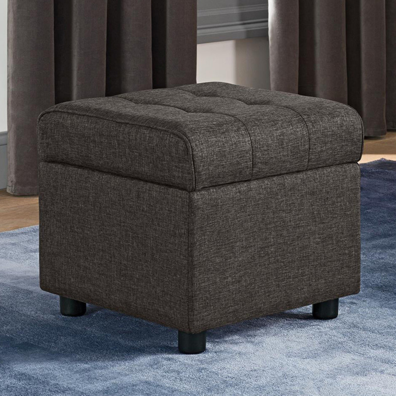 DHP Emily Square Tufted Storage Ottoman, Available in Various Colors