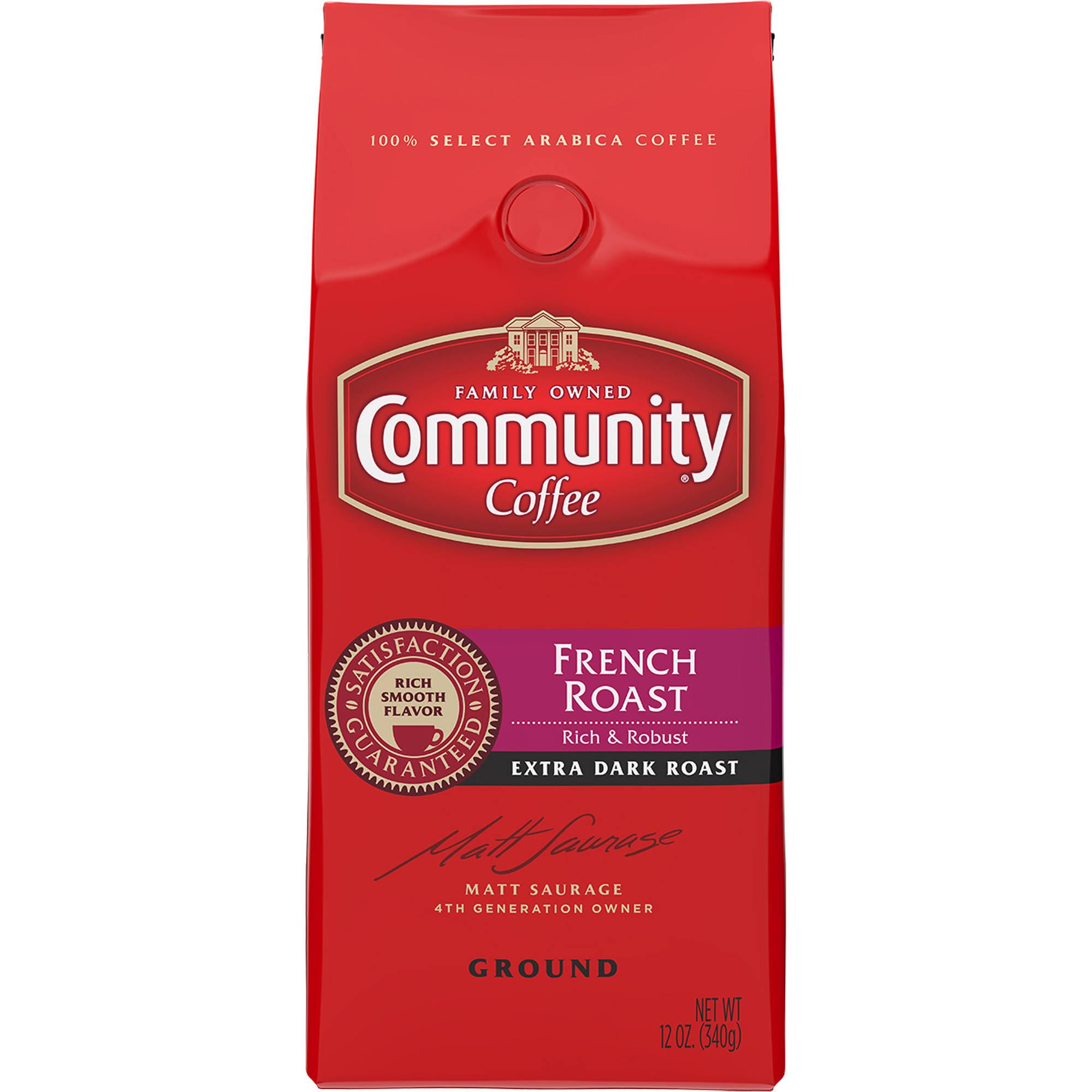 Community Coffee French Roast Ground Coffee, 12 oz