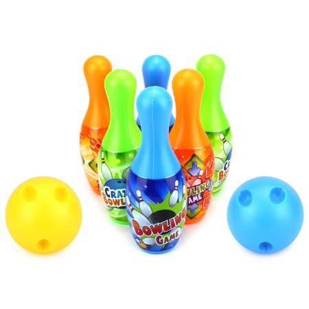 crazy bowler children s mini 12 piece toy bowling set w 10 pins 2