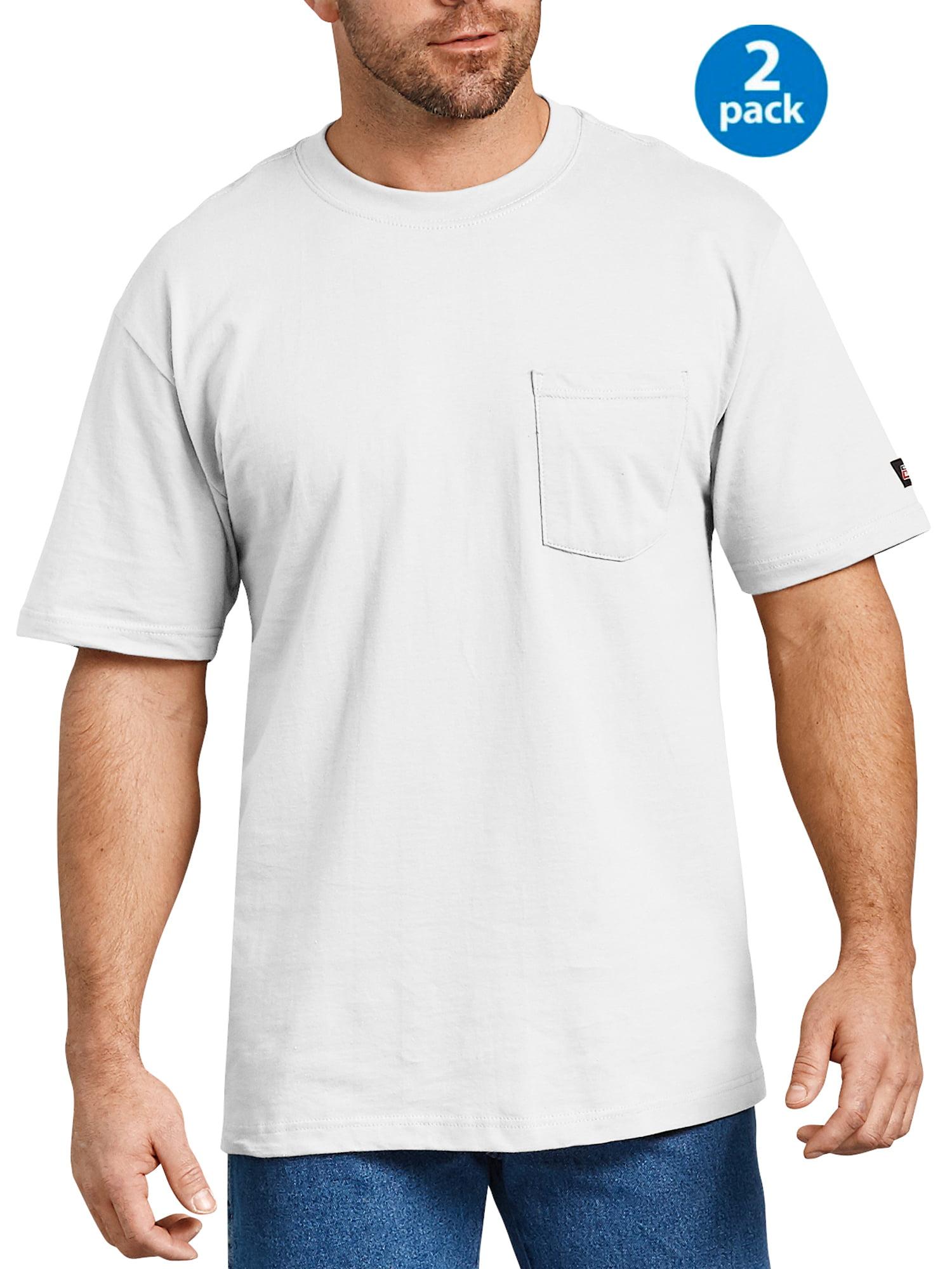 Men's Short Sleeve Heavy Weight Pocket T-Shirt, 2-Pack