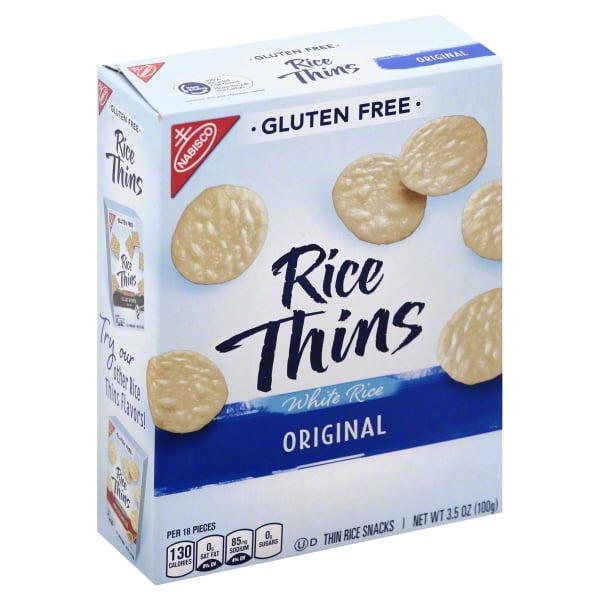 Nabisco Rice Thins Gluten-Free Original White Rice Snacks, 3.5 Oz.