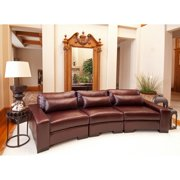 Elements Loft Top Grain Leather Sofa with Left Arm Facing Chair, Right Arm Facing Chair, and Armless Chair - Sable