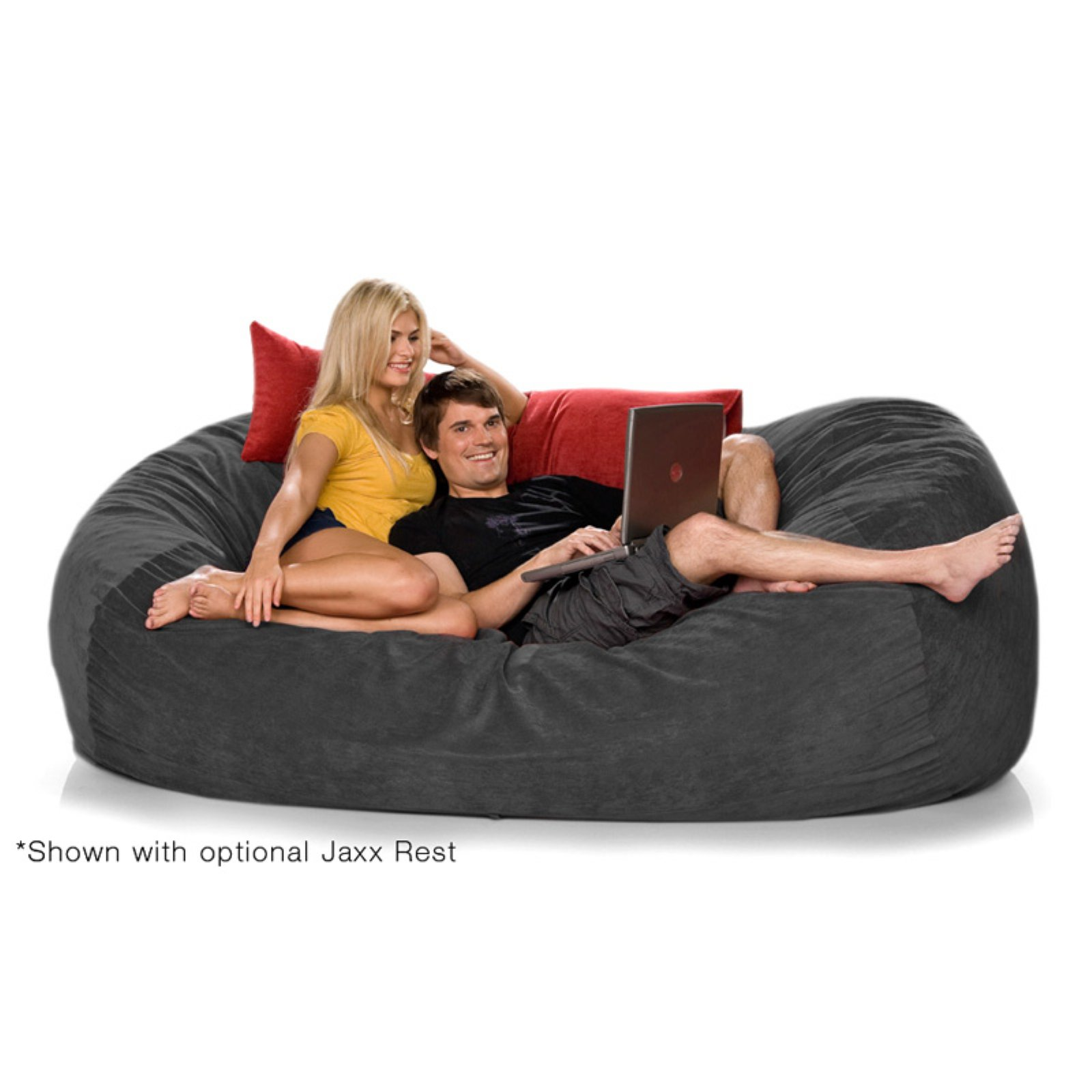 Jaxx 7.5 ft Lounger Microsuede Large Foam Sofa