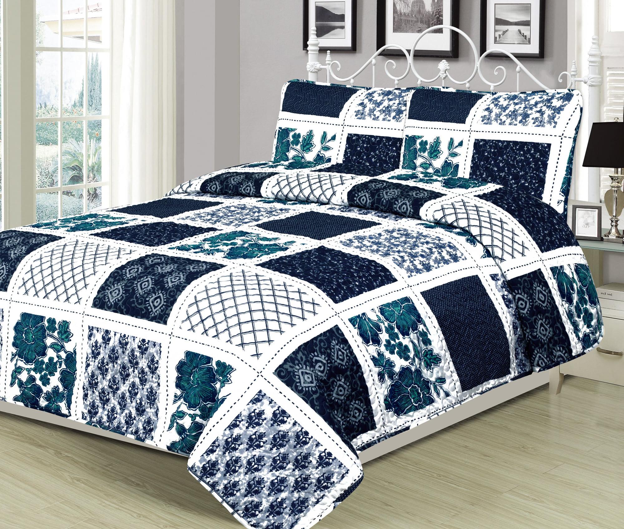 Bedding Sets Duvet Covers Teal Duvet Covers Green Patchwork Floral Tile Modern Quilt Cover Bedding Sets Home Furniture Diy Omnitel Com Na