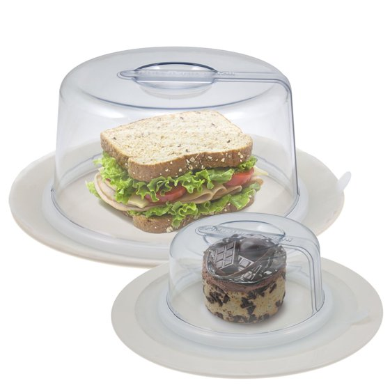 2 Platetopper Mini Tall Universal Leftover Lid Microwave Cover Air