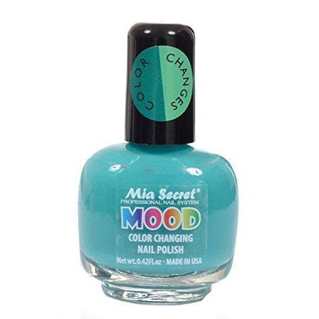 Mia Secret Mood Nail Lacquer Color Changing Polish Turquoise To Aqua