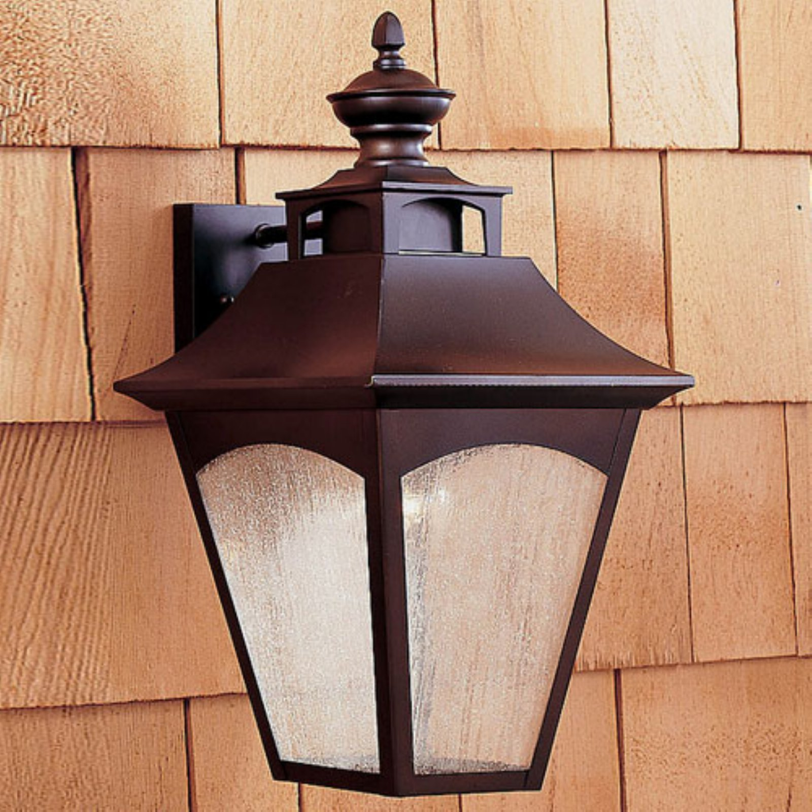 Feiss Homestead Outdoor Wall Lantern - 18.5H in. Oil Rubbed Bronze